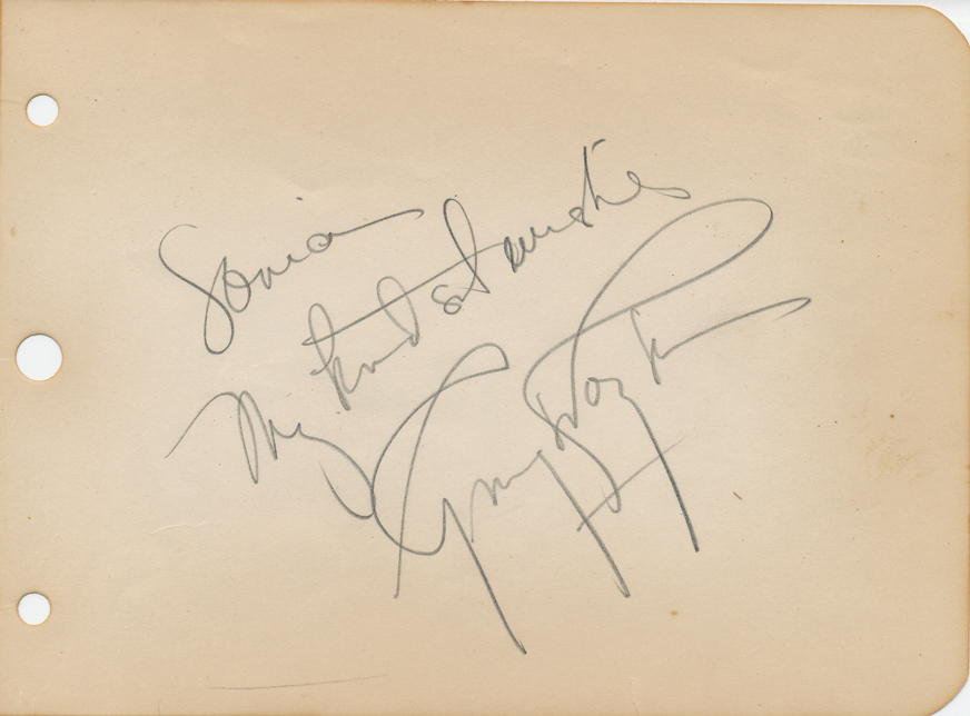 Ginger Rogers Autograph Signed Signature Fred Astaire
