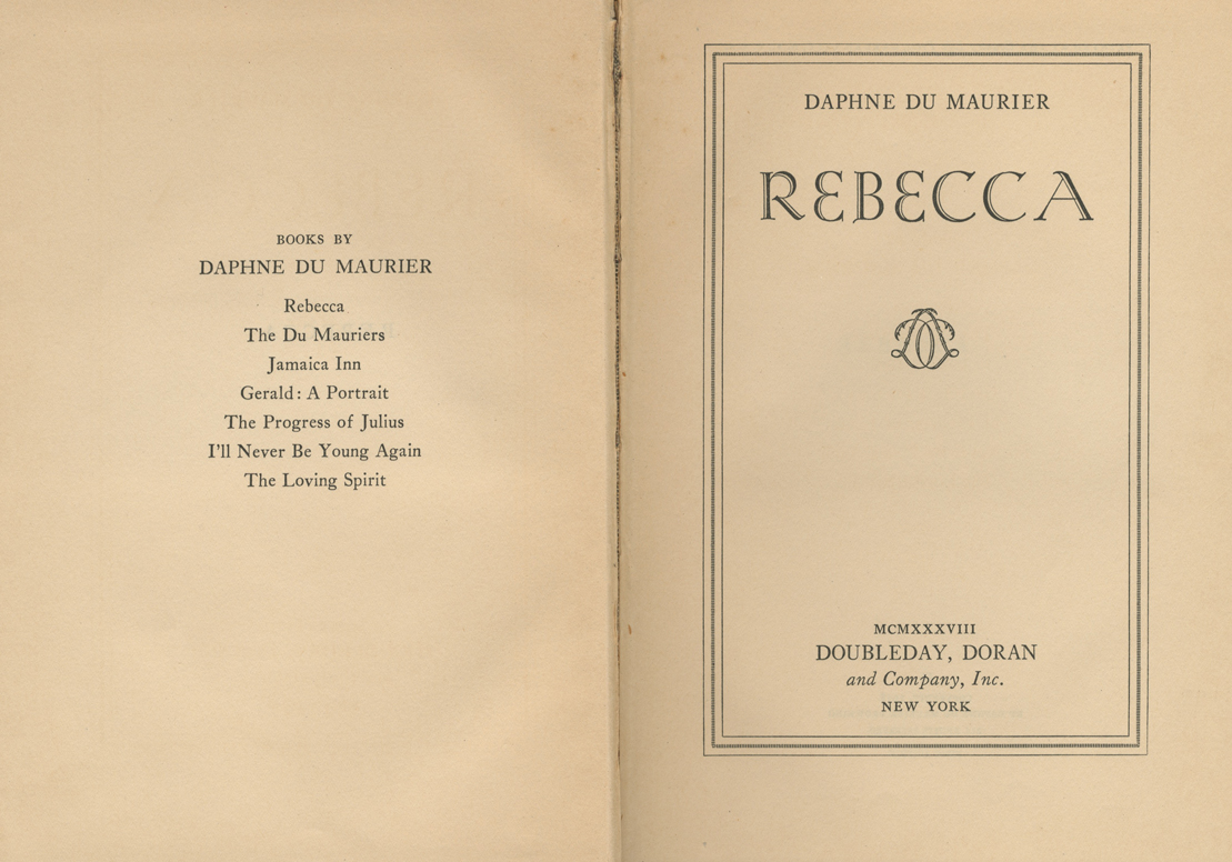 rebecca by daphne du maurier thesis essay The introduction is the most important paragraph of your toefl essay bakermans chapter on daphne du maurier argues that rebecca west and the god that failed: essays.