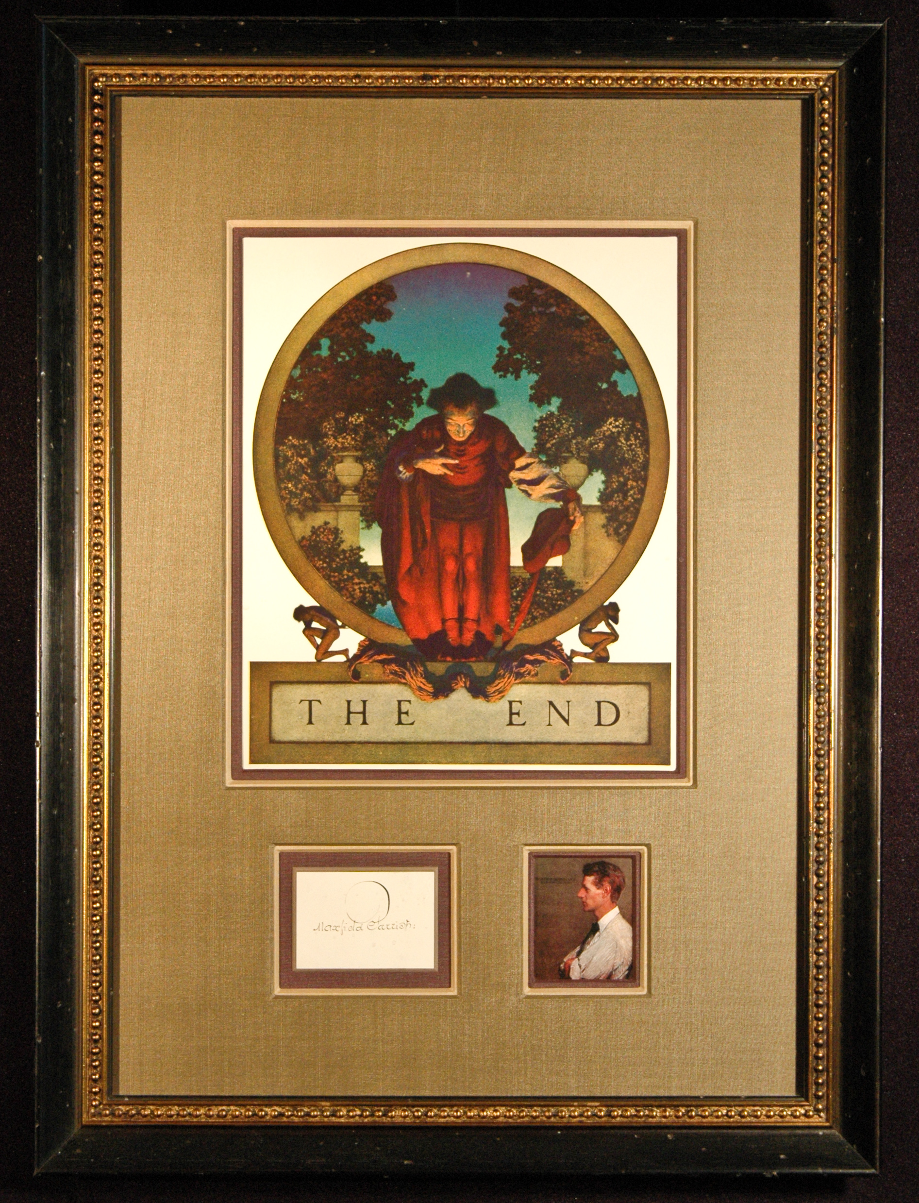 Maxfield Parrish Signed Autograph Signature Framed With