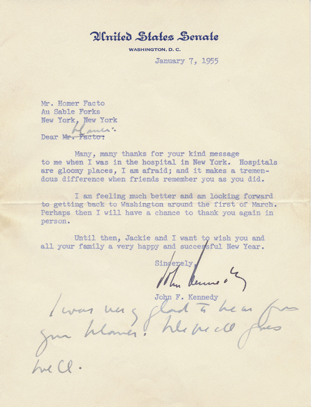 john f kennedy tls typed letter signed to pt boat crewmate