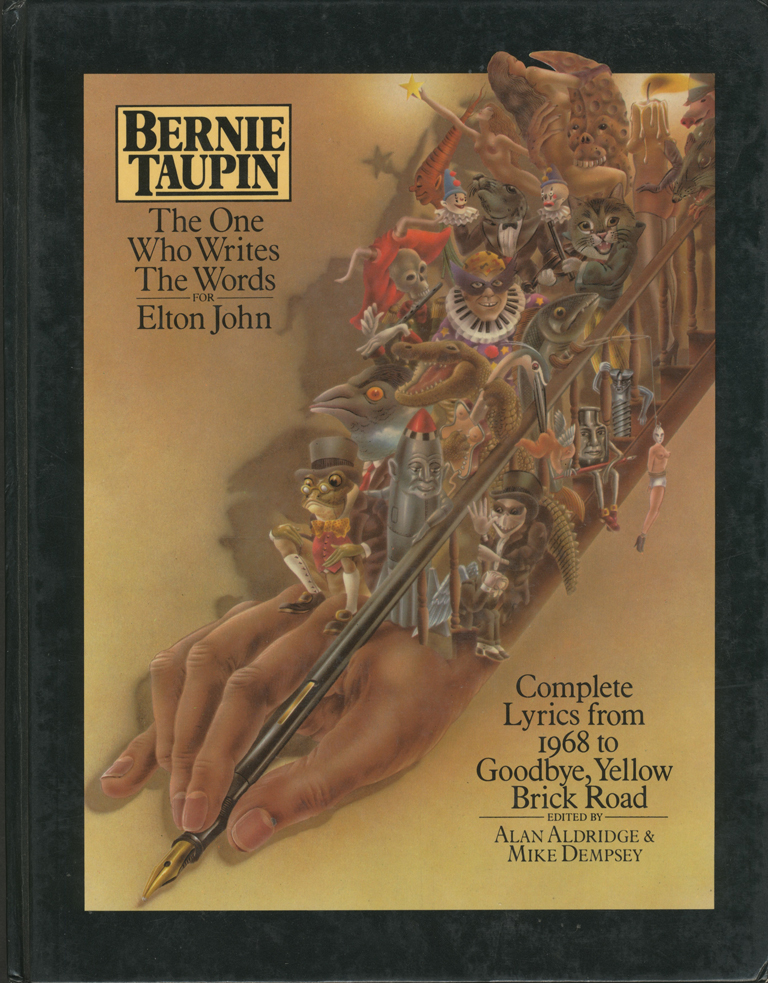 Bernie Taupin Signed Book The One Who Writes the Words for Elton John