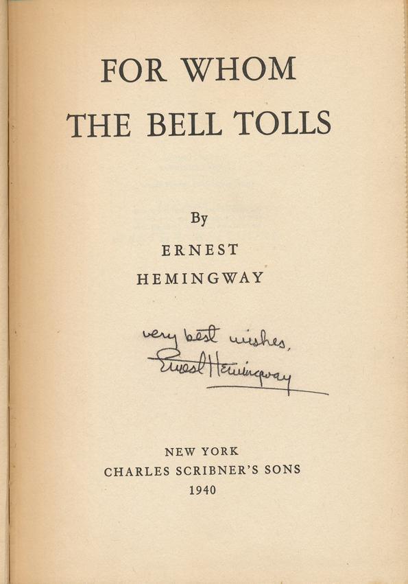for whom the bell tolls a For whom the bell tolls was hailed as hemingway's finest work upon its publication, and is still considered by many critics to be his masterpiece specifically, the literary world hailed hemingway's spare style and powerful symbolism.