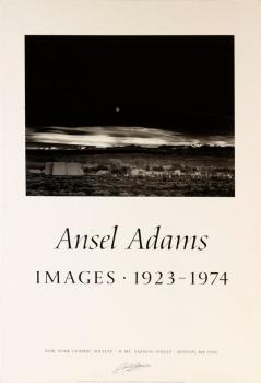 Ansel Adams Moonrise Poster Signed