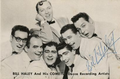 Bill Haley And The Comets Signed Autographed 1956 Promo Card